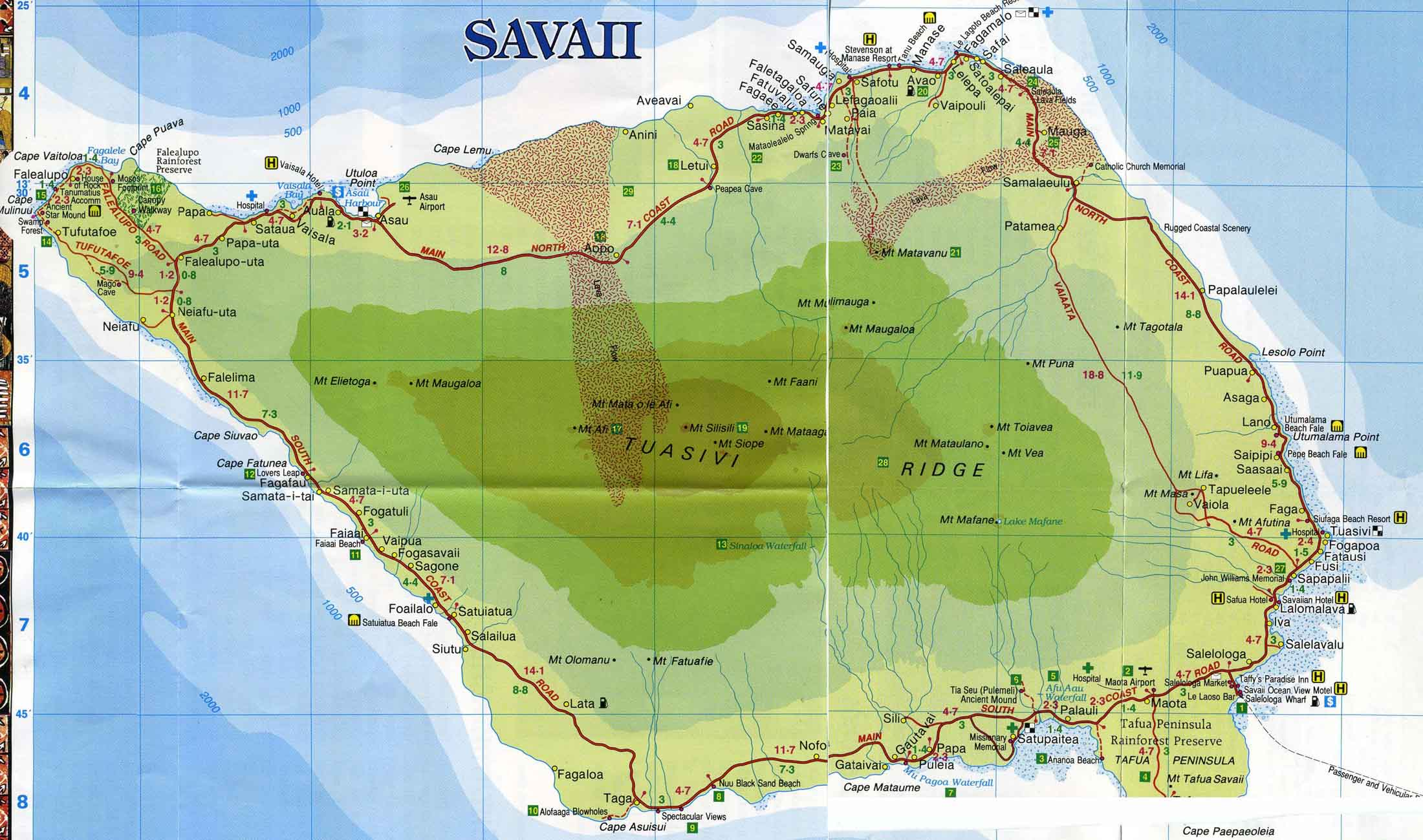 western samoa is comprised by two main islands and a number of surounding and inbetween islands upolu is the island which is of the most interest per our